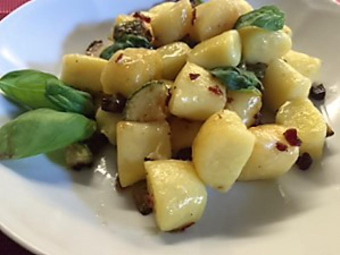 Ricette Con Gnocchi E Speck.Ricetta Gnocchi Zucchine E Speck Ricette Kenwood Club