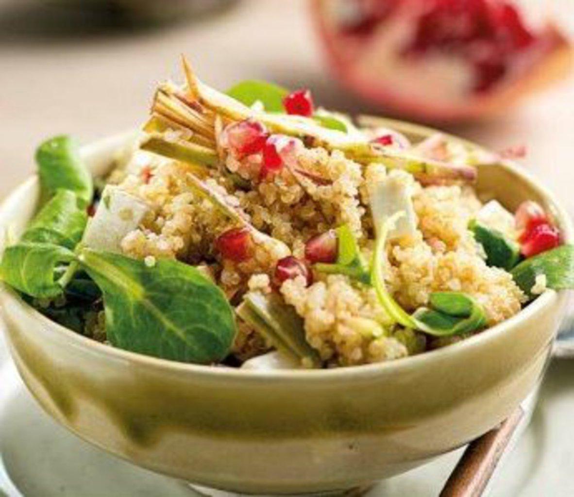 Ricetta Quinoa Con Carciofi.Ricetta Quinoa Con Carciofi E Melagrano Ricette Kenwood Club
